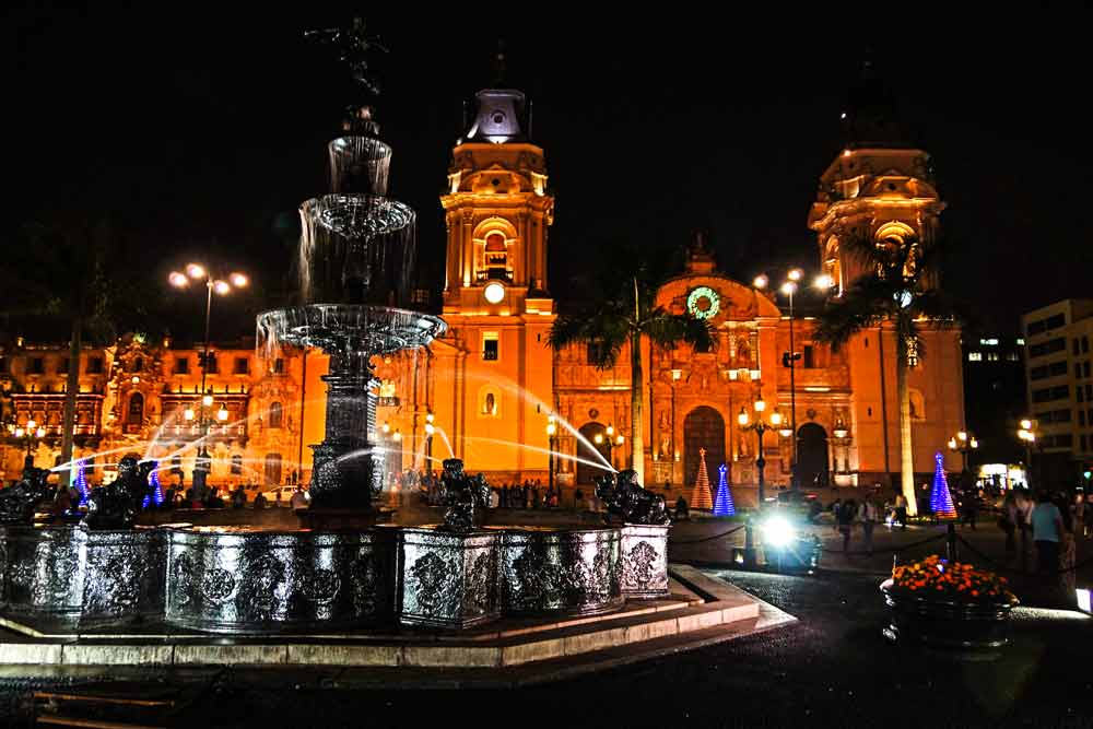main square in lima  18 days luxury tour